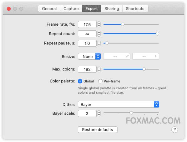 Gifox Pro 2.2.2 - 最好用的Gif动画录制工具