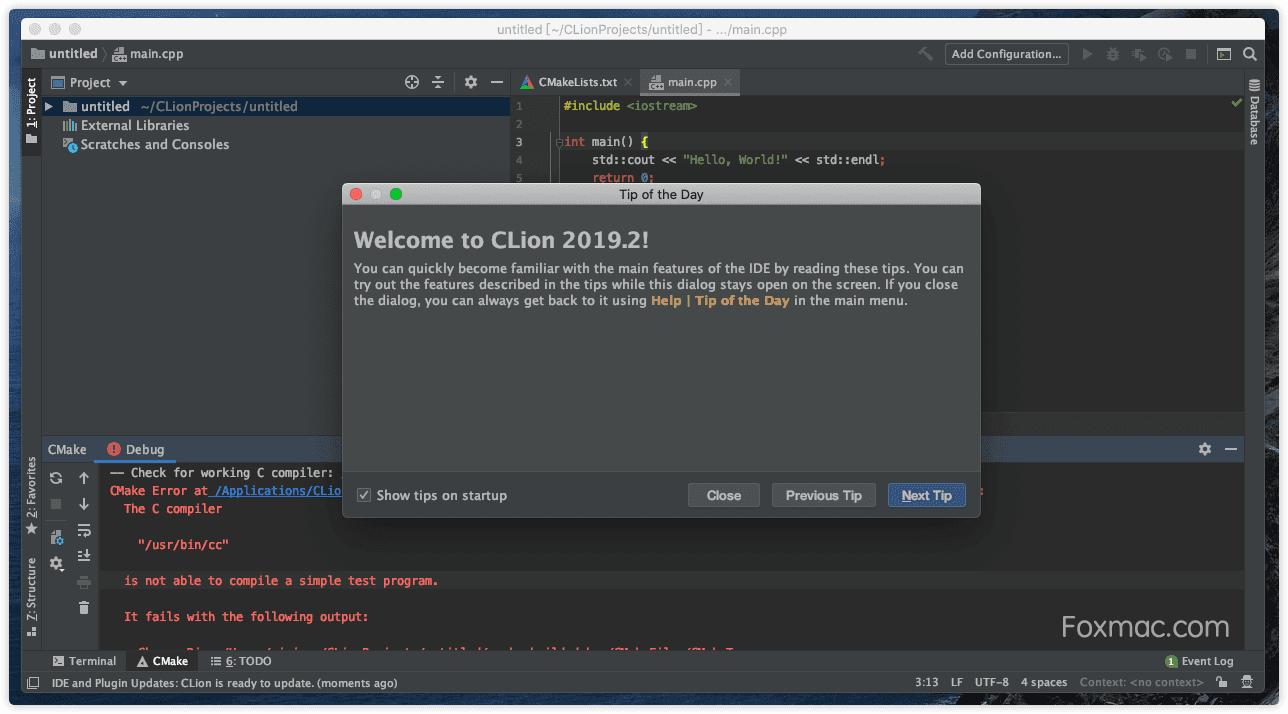 ·JetBrains CLion 2019.2强大的C/C++开发工具