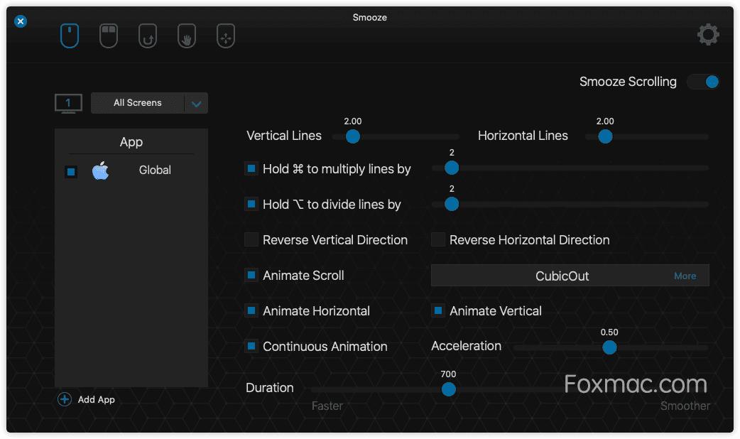 Smooze非Apple鼠标平滑滚动和鼠标增强功能