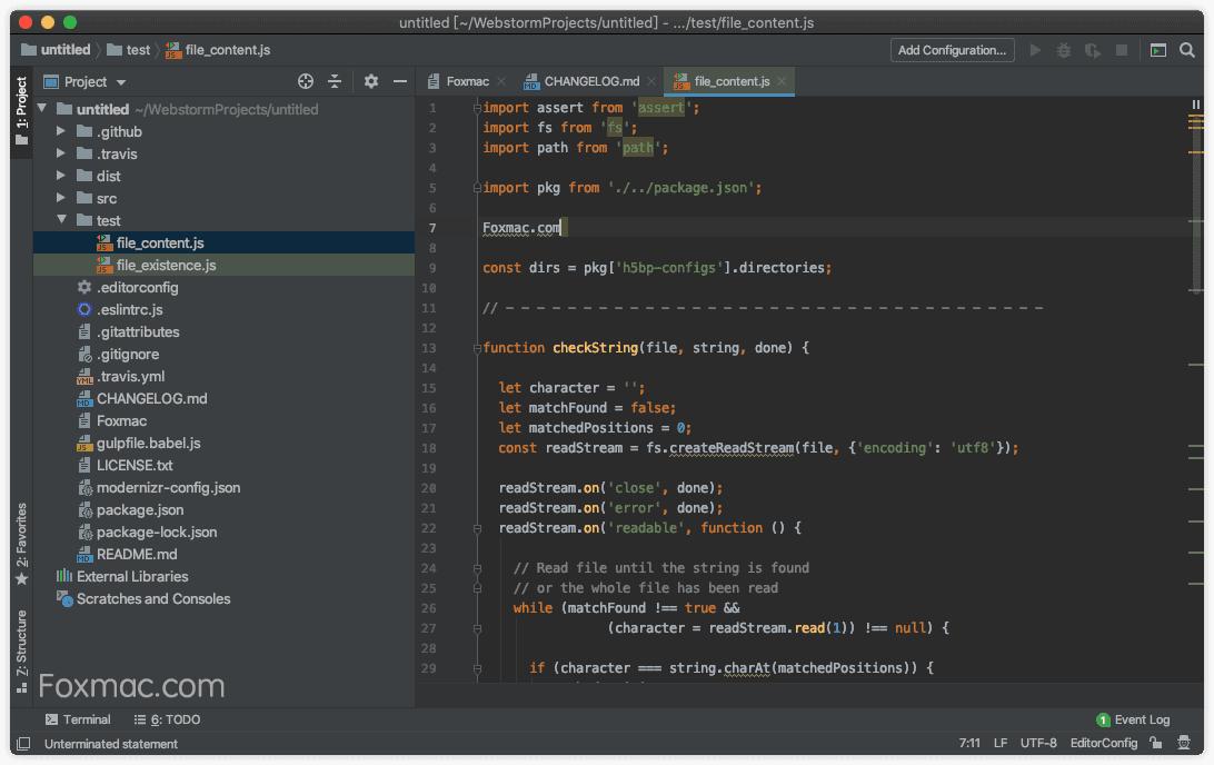 JetBrains WebStorm强大且智能的Javascript开发环境
