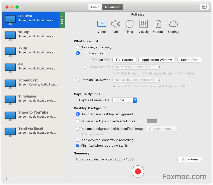 iShowU Instant Advanced快速、优秀的屏幕录制工具