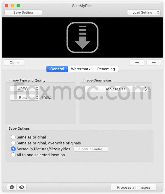 SizeMyPics 1.6.1 - 实用的图片编辑工具
