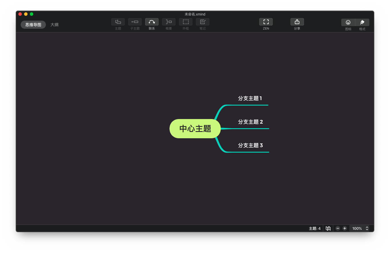 XMind ZEN非常优秀的思维导图软件
