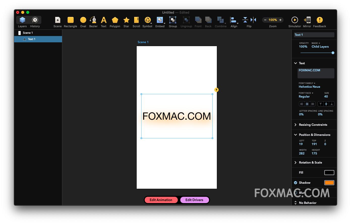 Drama 2.0.5 for Mac破解版-原型动画设计软件