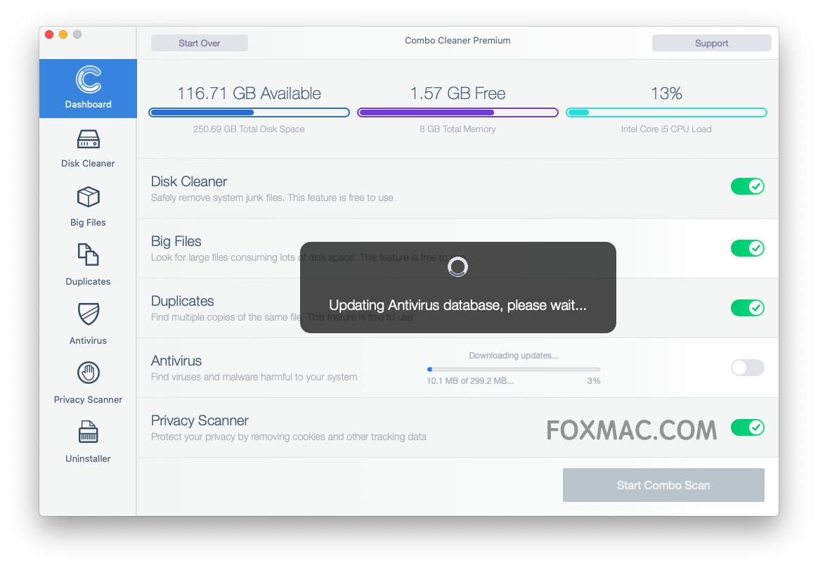 Combo Cleaner Premium 1.3.6 - mac系统优化清理杀毒工具