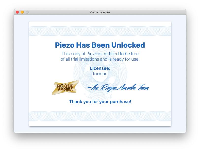 Piezo 1.7.3 - 超好用的Mac应用录音工具