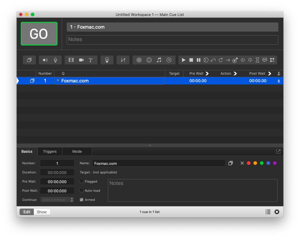 QLab Pro功能强大的现场演出声音灯光媒体控制软件