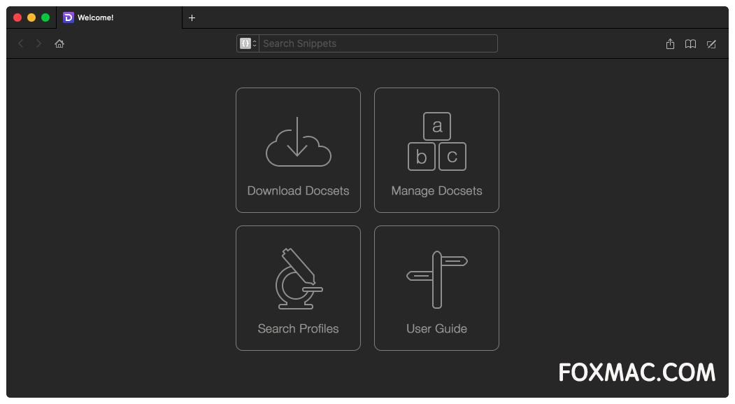 Dash 5.1.4开发者必备API文档和代码片段管理器