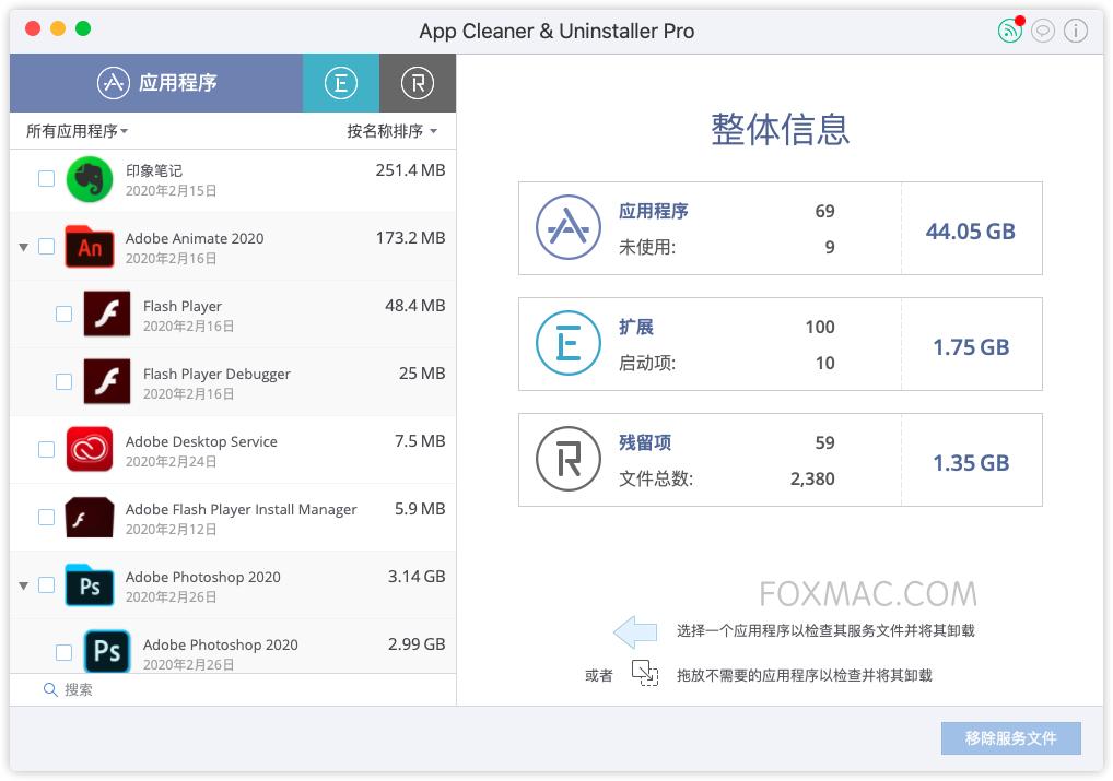 App Cleaner & Uninstaller Pro 软件深度清理卸载工具