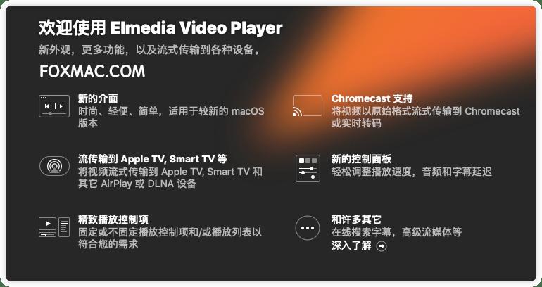 Elmedia Video Player Pro 7.11(2110) 中文版-MacOS全能视频播放器