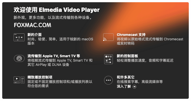 Elmedia Video Player Pro 7.10(2005) 中文破解版-MacOS全能视频播放器