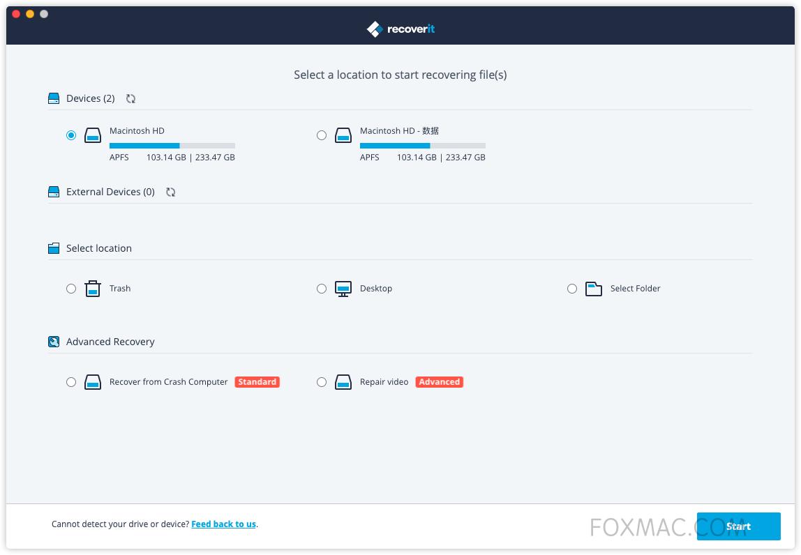 Wondershare Recoverit 超强的数据恢复软件